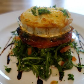 Goats' cheese topped pepper